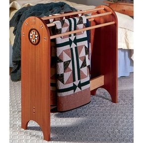 Woodworking Project Paper Plan to Build Shaker Quilt Stand