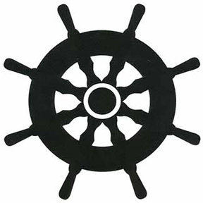 Woodworking Project Paper Plan to Build Ships Wheel Shadow