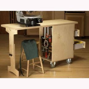 Woodworking Project Paper Plan to Build Shop Cart/Workbench
