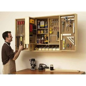 Woodworking Project Paper Plan to Build Shop-in-a-Box Tool Cabinet
