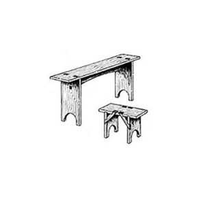 Woodworking Project Paper Plan to Build Simple Shaker Benches