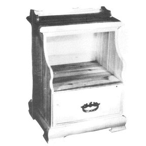 Woodworking Project Paper Plan to Build Single Drawer Night Stand