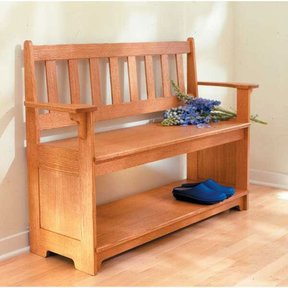 Woodworking Project Paper Plan to Build Sit-a-Spell Hall Bench