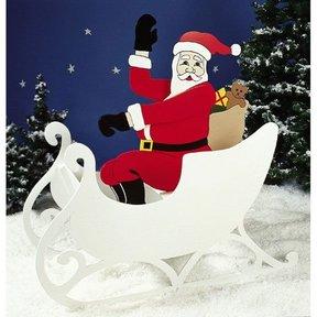 Woodworking Project Paper Plan to Build Sittin' Pretty Santa