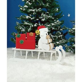 Woodworking Project Paper Plan to Build Sleigh Riding Teddy