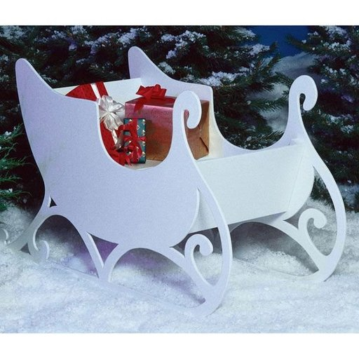 View a Larger Image of Woodworking Project Paper Plan to Build Sleigh
