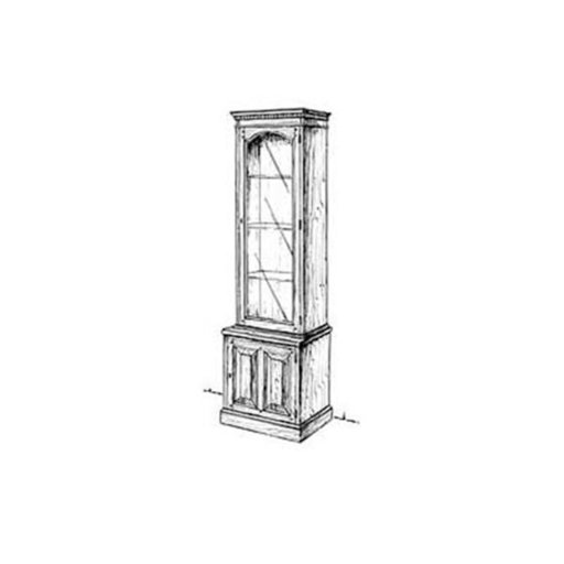 View a Larger Image of Woodworking Project Paper Plan to Build Slim Curio Cabinet