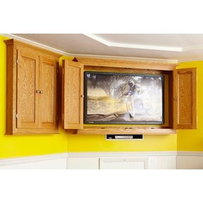 Woodworking Project Paper Plan to Build Slim-Profile TV/Game Cabinet