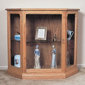 Woodworking Project Paper Plan to Build Small Curio Cabinet, Plan No. 771
