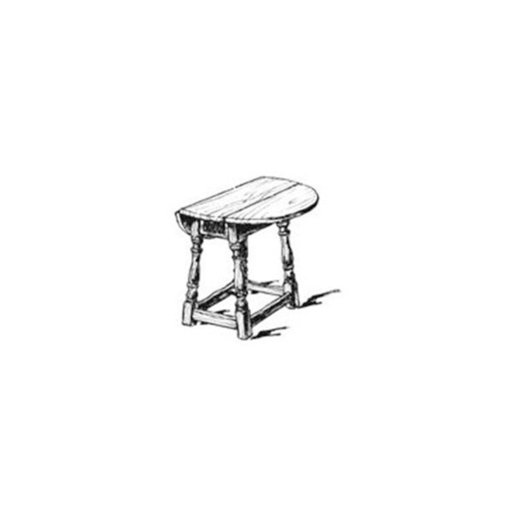 View a Larger Image of Woodworking Project Paper Plan to Build Small Drop Leaf Table