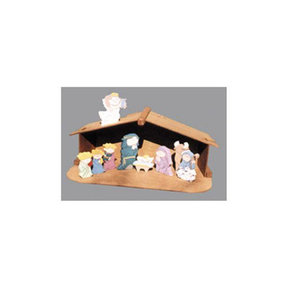 Woodworking Project Paper Plan to Build Small Nativity and Shelter