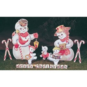 Woodworking Project Paper Plan to Build Snow Woman with Snow Dog, Plan No. 226