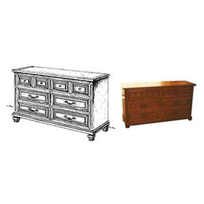 Woodworking Project Paper Plan to Build Spanish Double Dresser