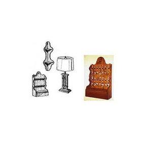 Woodworking Project Paper Plan to Build Spoon Rack, Shelf, Ratchet Lamp