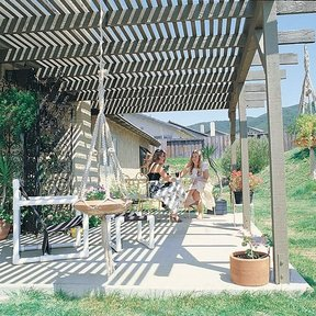 Woodworking Project Paper Plan to Build Sun Trellis, Plan No. 608