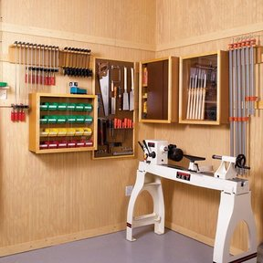 Woodworking Project Paper Plan to Build Super-Flexible Shop Storage