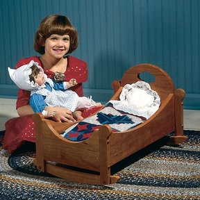 Woodworking Project Paper Plan to Build Sweet-Dreams Doll Cradle
