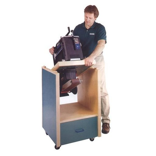View a Larger Image of Woodworking Project Paper Plan to Build Swivel-Topped Tool Cabinet