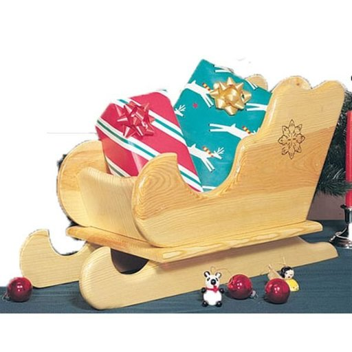 View a Larger Image of Woodworking Project Paper Plan to Build Table-top Sleigh, Plan No. 848
