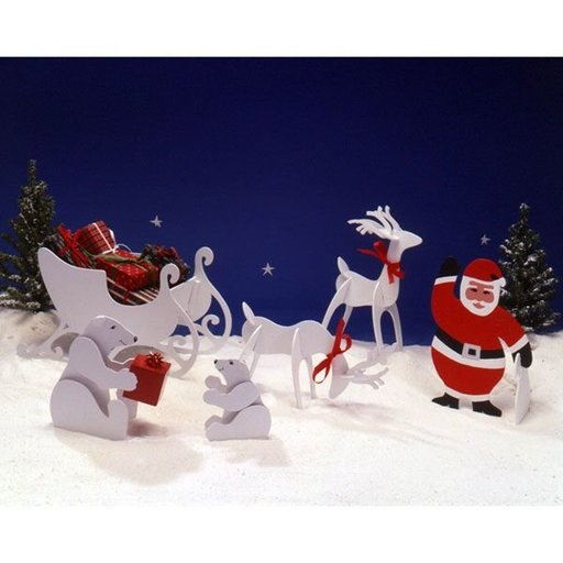 View a Larger Image of Woodworking Project Paper Plan to Build Tabletop Christmas Figures