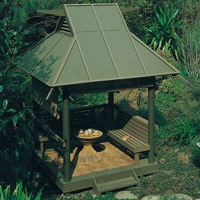 Woodworking Project Paper Plan to Build Teahouse, Plan No. 710
