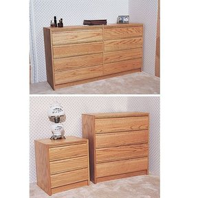 Woodworking Project Paper Plan to Build Three Piece Bedroom Set , Plan No. 768