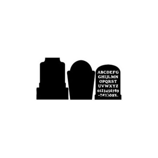 View a Larger Image of Woodworking Project Paper Plan to Build Tombstones and Letter Shadow
