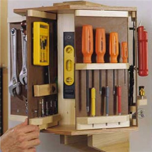 View a Larger Image of Woodworking Project Paper Plan to Build Tool Carousel