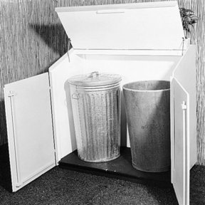 Woodworking Project Paper Plan to Build Trash Can Shelter, Plan No. 340