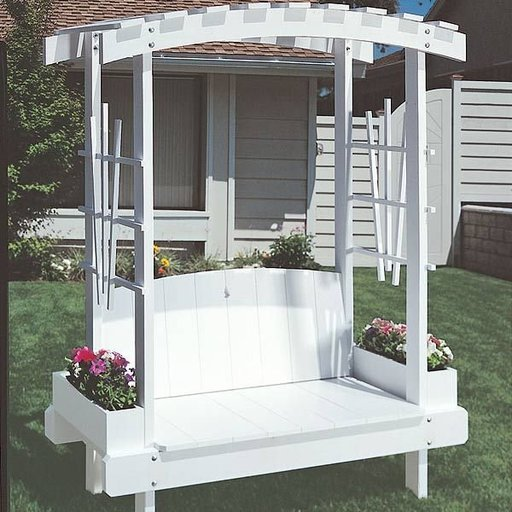 View a Larger Image of Woodworking Project Paper Plan to Build Trellis Bench Plan