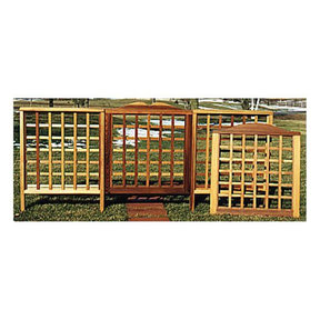 Woodworking Project Paper Plan to Build Trellis Fencing