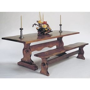 Woodworking Project Paper Plan to Build Trestle Benches, Plan No. 615
