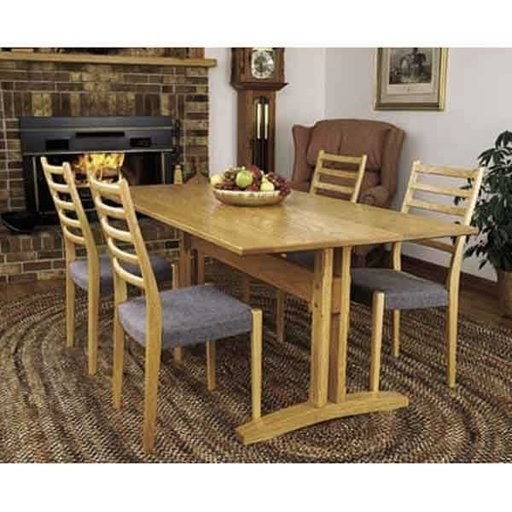 View a Larger Image of Woodworking Project Paper Plan to Build Trestle Table