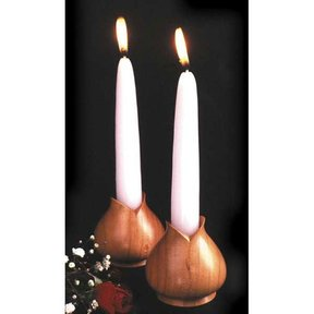Woodworking Project Paper Plan to Build Turned Candleholders