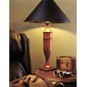 Woodworking Project Paper Plan to Build Turned Table Lamp