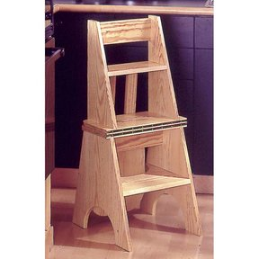 Woodworking Project Paper Plan to Build Two-In-One Seat/Step Stool
