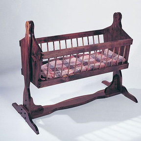 Woodworking Project Paper Plan to Build U-Bild Country Cradle