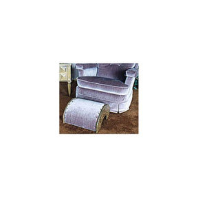 Woodworking Project Paper Plan to Build Upholstered Footstool