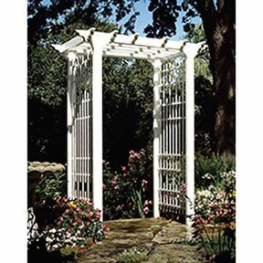 Woodworking Project Paper Plan to Build Victorian Arbor