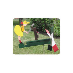 Woodworking Project Paper Plan to Build Waterpump Girl Whirligig