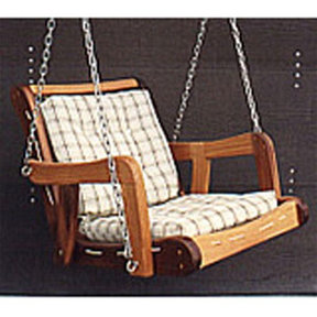 Woodworking Project Paper Plan to Build Webbed Swing
