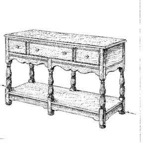 Woodworking Project Paper Plan to Build Welsh Buffet