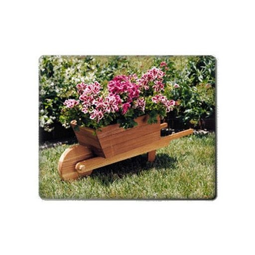 View a Larger Image of Woodworking Project Paper Plan to Build Wheelbarrow Planter, Plan No. 879