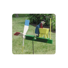 Woodworking Project Paper Plan to Build Woman Washing Whirligig