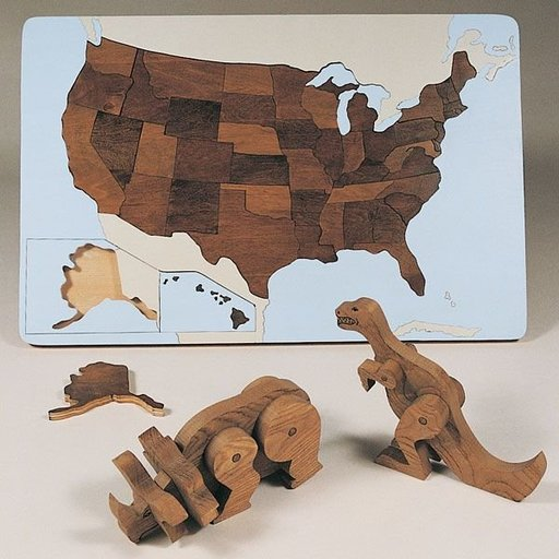 View a Larger Image of Woodworking Project Paper Plan to Build Wooden Puzzles, Plan No. 778