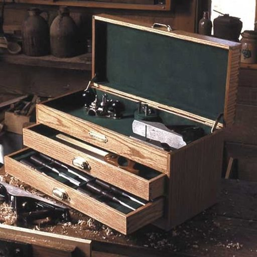 View a Larger Image of Woodworking Project Paper Plan to Build Woodworkers Tool Chest