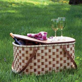 Woven-Wood Picnic Basket - Downloadable Plan