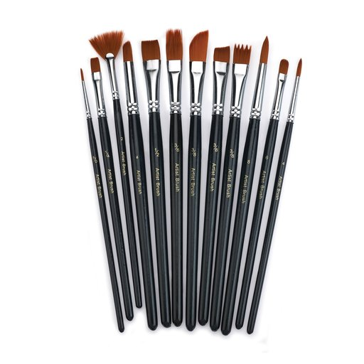 View a Larger Image of Brushes Paint 12 pc