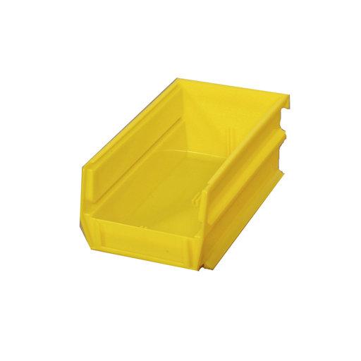 View a Larger Image of Yellow Stacking, Hanging, Interlocking Polypropylene Bins, 24 CT