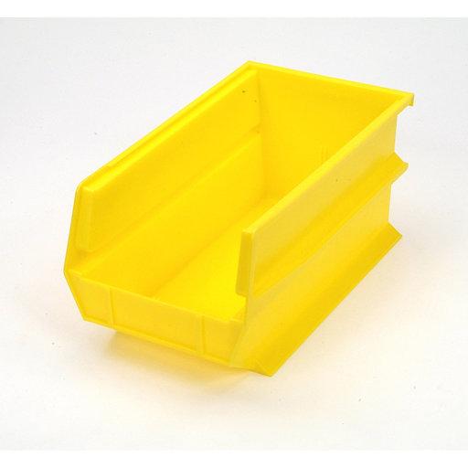 View a Larger Image of Yellow Stacking, Hanging, Interlocking Polypropylene Bins, 6 CT